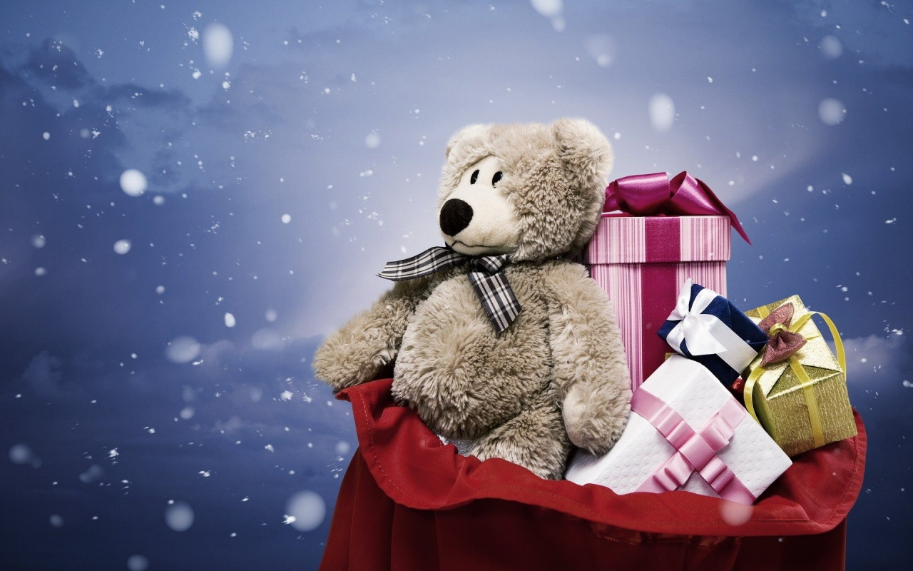 Christmas Teddy Bear Wallpaper: Christmas Wallpaper (27669966)