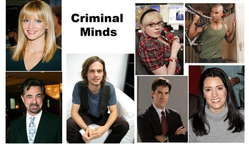 Esprits Criminels fond d'écran with a portrait entitled Criminal minds team