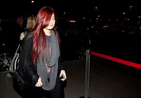 Demi Lovato at LAX