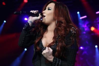 Demi Lovato at the Z100 Jingle Ball