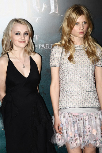 Evanna Lynch and Clemence Poesy