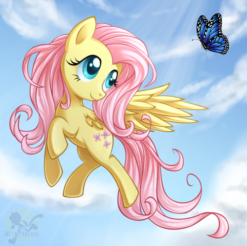 Fluttershy and প্রজাপতি