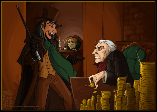 Frollo as Scrooge
