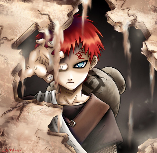 Gaara Of Suna Wallpaper Entitled Sand