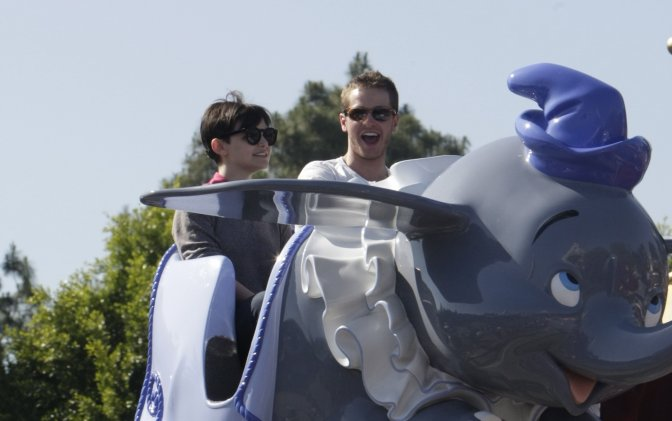 Ginnifer Goodwin & Josh Dallas in Disneyworld