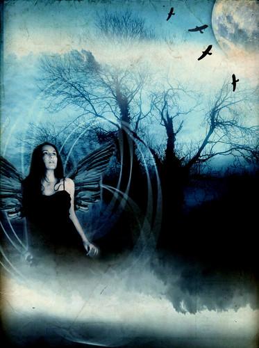 Gothic blue moon