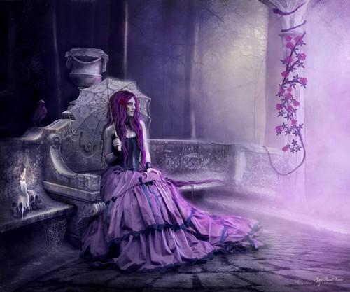 Готика purple Фэнтези