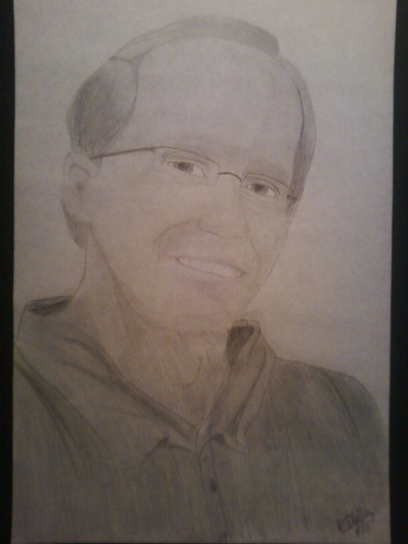 Hand Drawing of Mr. Bennett