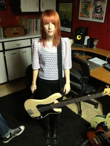 Hayley on bass