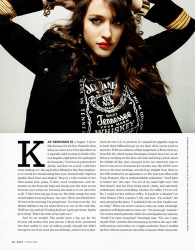 Kat in Bust Magazine - December 2011