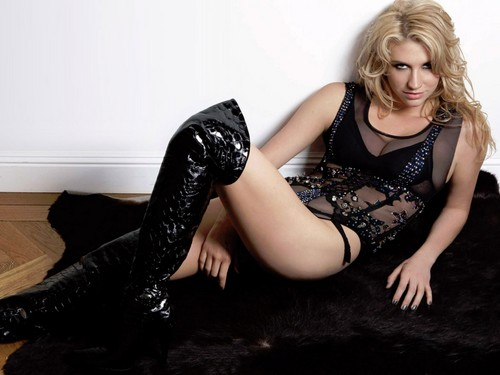 Ke$ha پیپر وال probably with bare legs, hosiery, and tights entitled Ke$ha