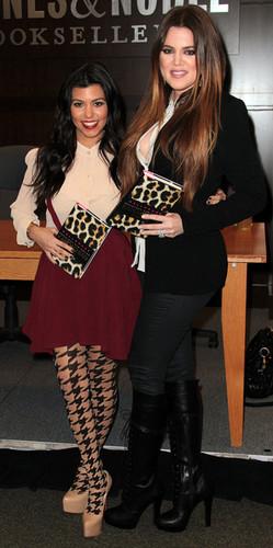 "Kourtney Kardashian And Khloe Kardashian Book Signing For ""Dollhouse"""