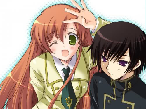 Code Geass karatasi la kupamba ukuta containing anime called Lelouch and Shirley
