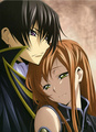 Lelouch and Shirley  - code-geass fan art