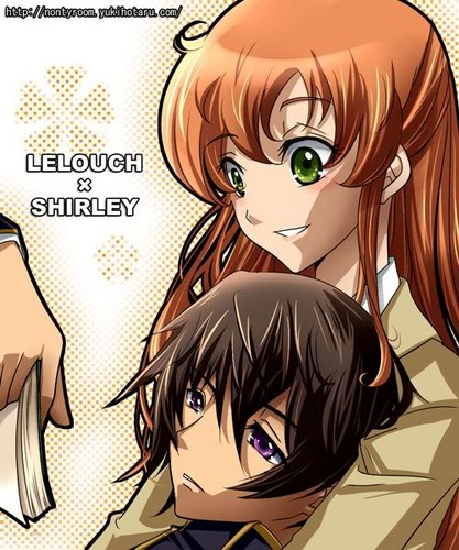 Code Geass karatasi la kupamba ukuta with anime called Lelouch and Shirley