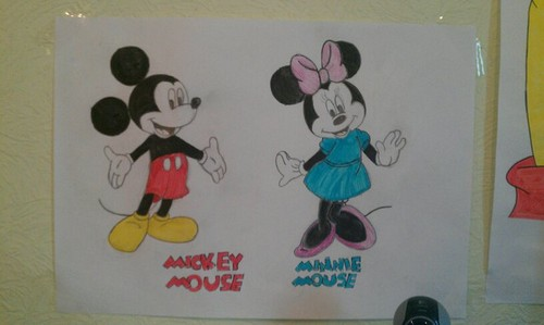 Mickey and Minnie мышь