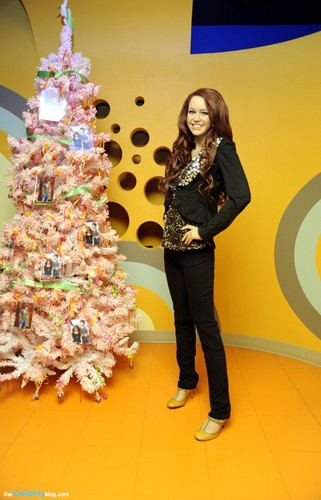 Miley Cyrus's wax figure at Madame Tussauds