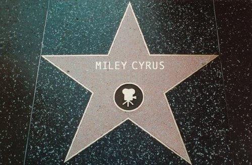 Miley's bituin on Hollywood walk of fame (FAN ART)