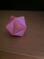 Sonobe Stellated Octahedron - origami fan art