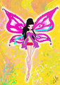 My Winx OC Jessica,the fairy of Darkness,in her Enchantix