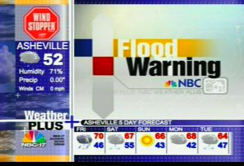 NBC 17 Weather Plus Flood Warning Intro - (2005)