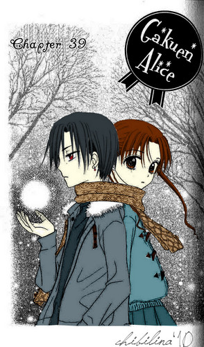 Gakuen Alice wolpeyper containing anime entitled Natsume & Mikan