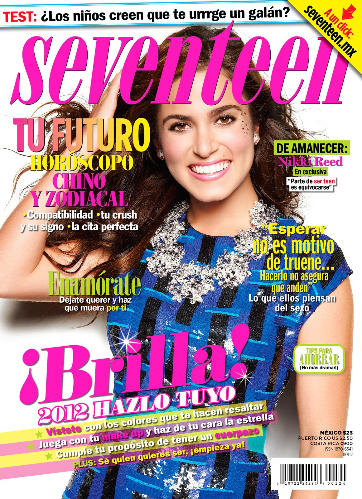 """Nikki on the cover of """"Seventeen"""" magazine [Mexico - December/January issue]"""