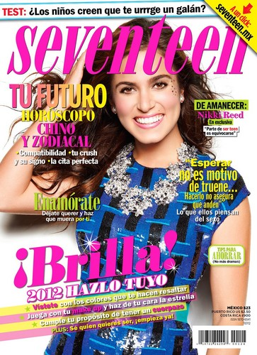 "Nikki Reed wallpaper probably with anime entitled Nikki on the cover of ""Seventeen"" magazine [Mexico - December/January issue]"