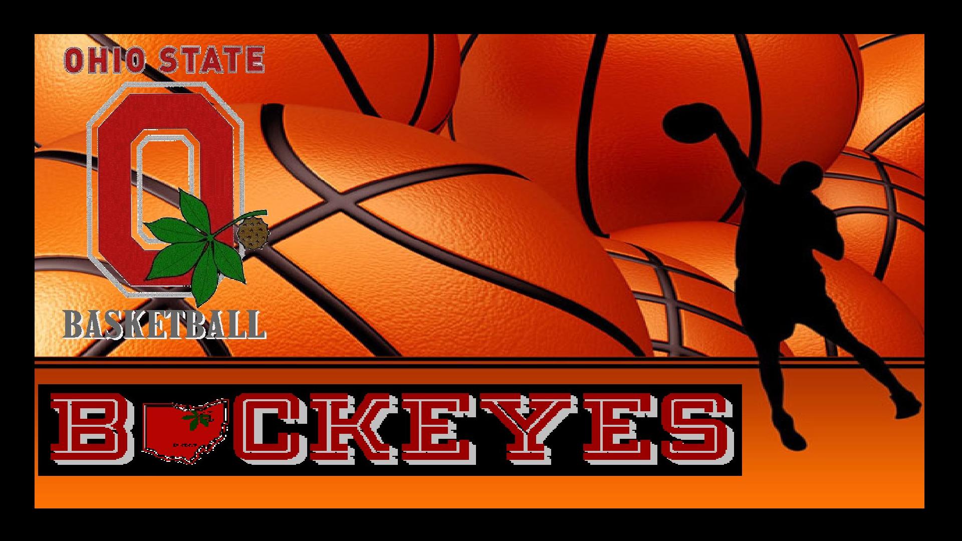 OSU BUCKEYES basketbal PLAYER SILLHOUTTE