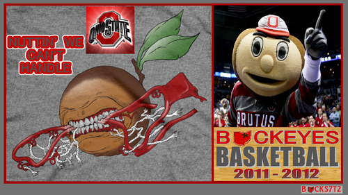 Ohio State universidad baloncesto fondo de pantalla probably containing anime called OSU BUCKEYES NUTTIN' WE CAN'T HANDLE
