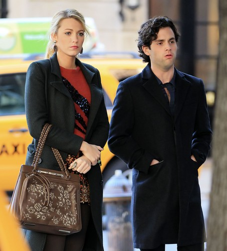 Penn and Blake on the set 24 october