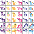 Pony swap colors - my-little-pony-friendship-is-magic fan art