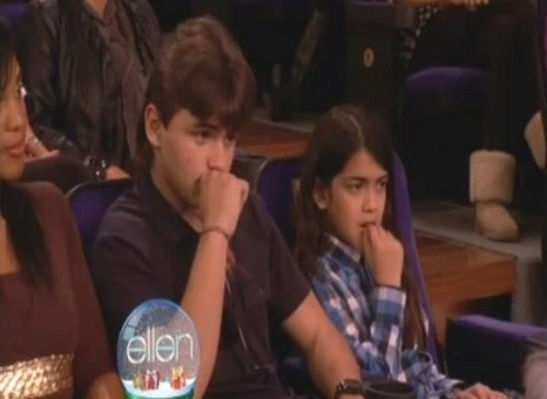Prince Jackson And Blanket Jackson In The Audience On The Ellen दिखाना 2011