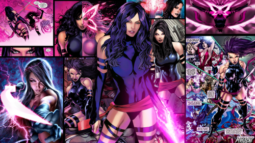 Psylocke Wallpaper Containing Anime Titled