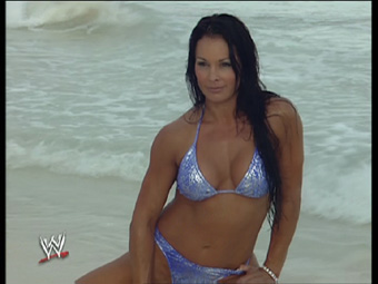 Wwe Former Diva Ivory achtergrond containing a bikini called Purple Ivory