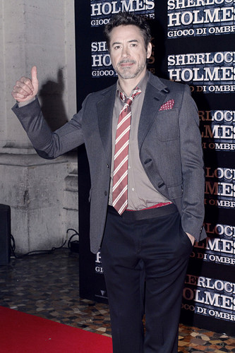 Robert Downey Jr. Flashes Underwear At 'Sherlock Holmes' Rome Premiere