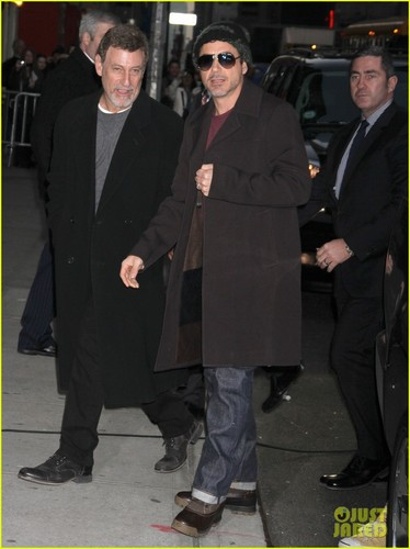 Robert Downey Jr.: Late Показать with David Letterman!