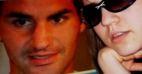 Roger Federer and sexy girl