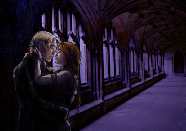 Rose and Scorpius in the hallway