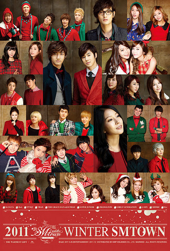 "S.M.Entertainment wallpaper called SM Entertainment Winter Album ""The Warmest Gift"""