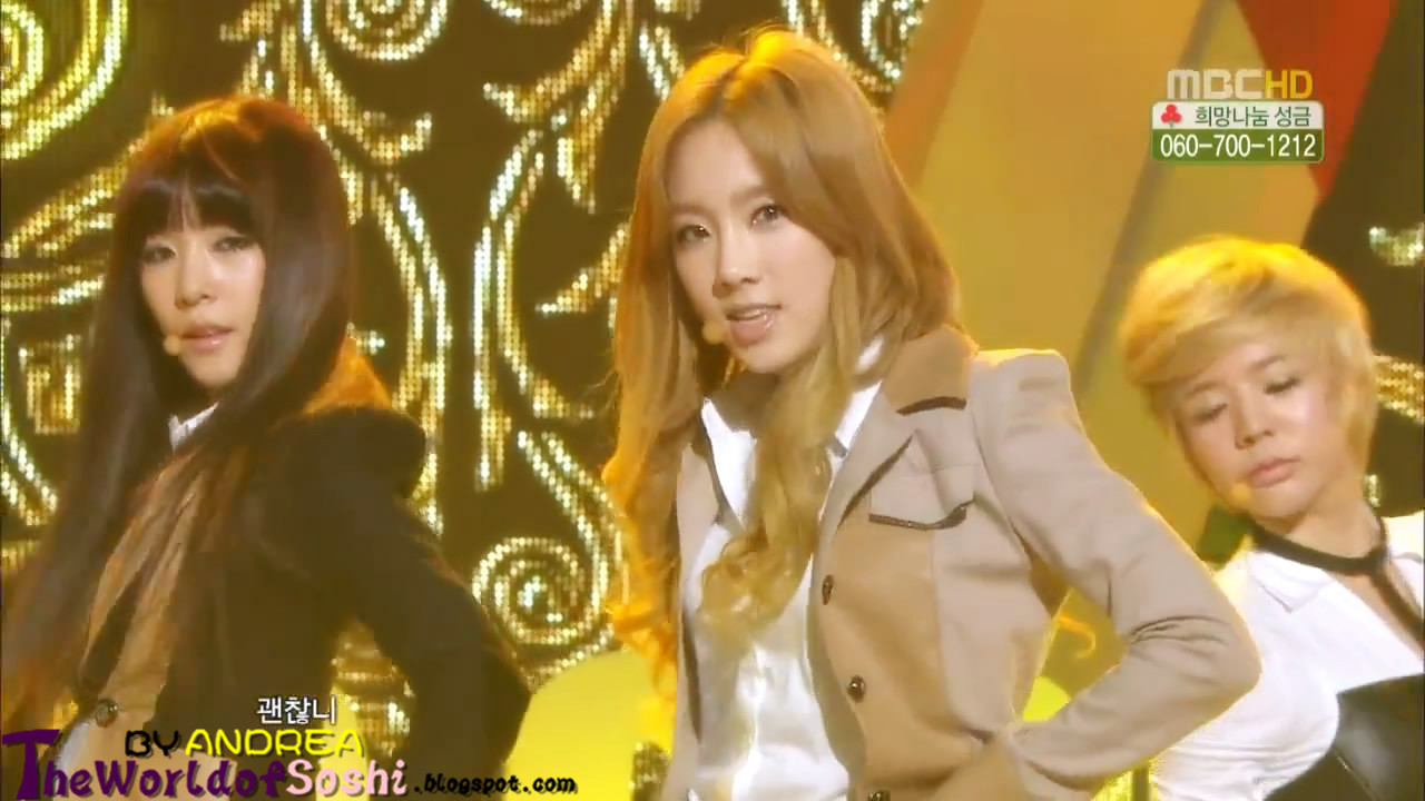 SNSD - The Boys Live in Music Core
