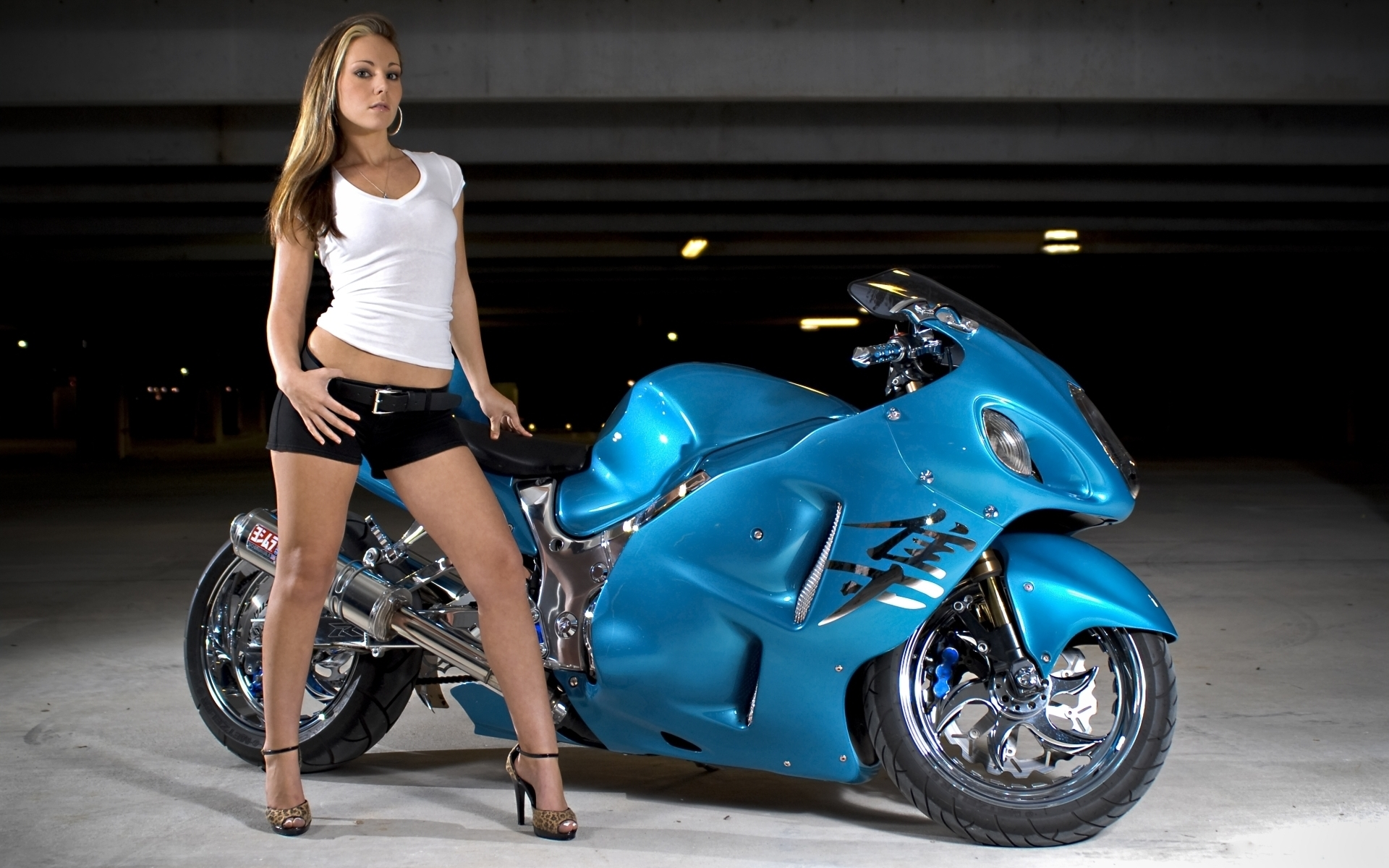 Motorcycle sexy background