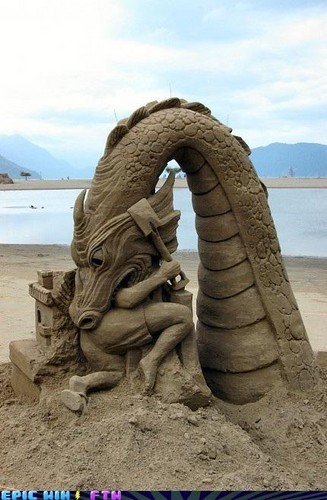 Modern Art wallpaper entitled Sandcastle Art