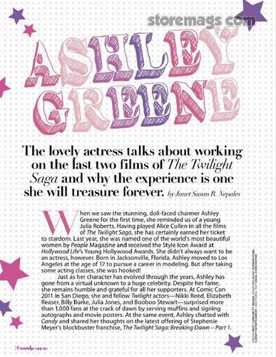 Scans - Ashley in 'Candy' magazine [Phillipines]