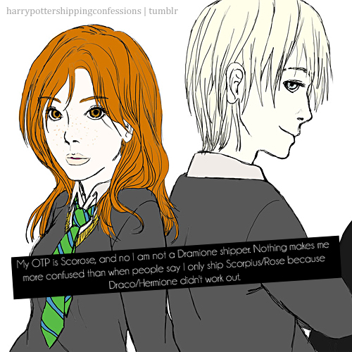 Rose and Scorpius fond d'écran containing animé entitled Scorpius/Rose Confessions on Tumblr