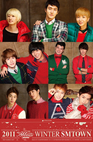 "Super Junior SM Entertainment Winter Album ""The Warmest Gift"" - smentertainment Photo"