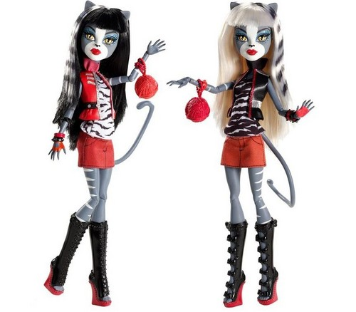 Monster High wallpaper entitled THE TWIN'S DOLLS!!!!