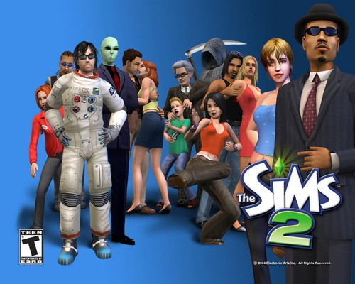 The Sims 2 wallpaper possibly containing a breastplate and a shoulder pad titled The Sims 2