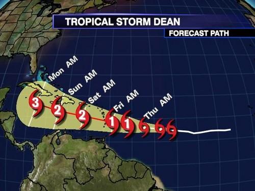 Tropical Storm Dean - (2008)