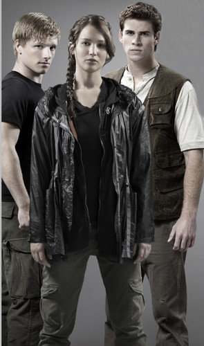 Untagged Poster of Katniss, Peeta and Gale